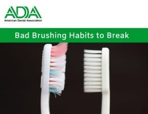 Bad Brush Habits with image of toothbrush